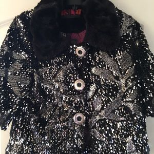 Isle short sleeved sequin jacket